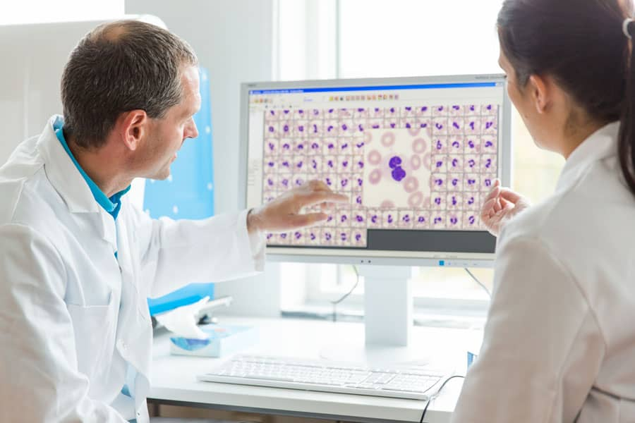 Cellavision Digital Analyzer and the peripheral blood application working together